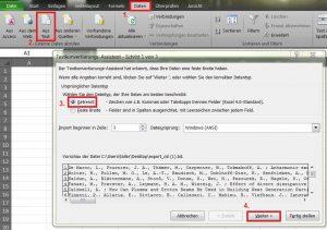 Daten aus einem .txt-Dokument einfügen in Excel.